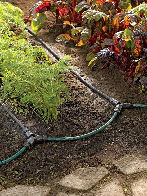 flower bed watering system garden row snip n drip soaker system