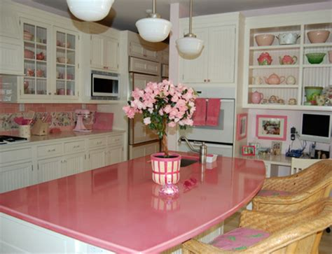 Pink Countertops Kitchen by Pink Is All Grown Up Retro Pink Kitchens Cabinets And