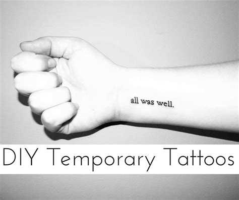 Easy Things To Draw On Yourself by 8 Diy Temporary Tattoos To Try Out