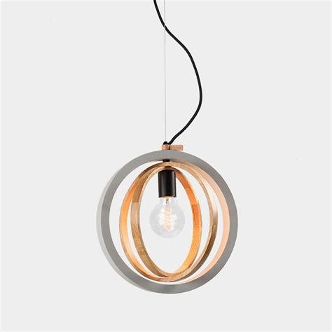 Timber Circular Concrete Pendant Light Circular Pendant Light
