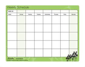 Weekly Schedule Template Pdf by Family Schedule Template Schedule Template Free