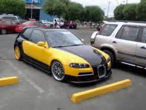 Honda Vs Bugatti Honda Civic Bugatti