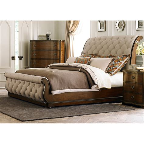 slay bed liberty furniture cotswold upholstered sleigh bed beds
