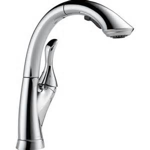 delta pull out kitchen faucet shop delta linden chrome 1 handle pull out kitchen faucet