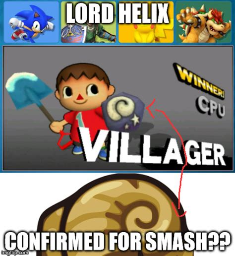 Helix Fossil Meme - lord helix secretly confirmed super smash brothers