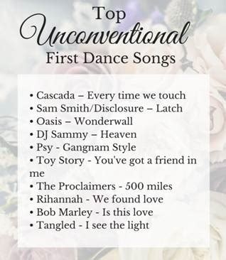 Top Unconventional First Dance Wedding Songs   Wedding Journal
