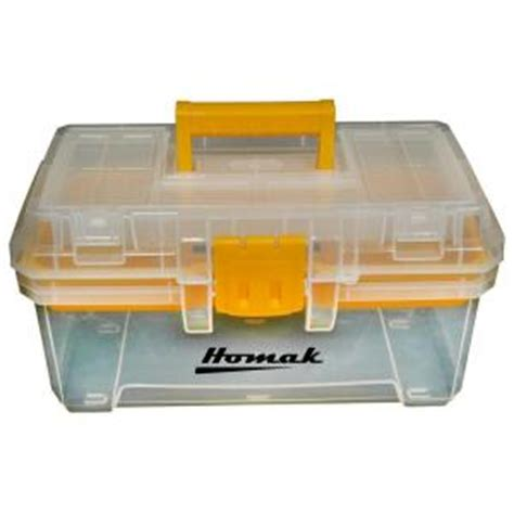 homak 15 in plastic transparent tool box tp00115088 the