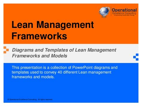 Lean Operations And Systems Mba by Lean Management Frameworks By Operational Excellence
