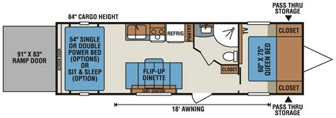 kz toy hauler floor plans mxt 2920 action vr roulotte cargo fifth wheel 224
