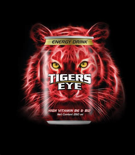 energy drink 7 words tigers eye on packaging of the world creative package