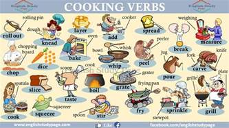 cooking verbs visual expression study page