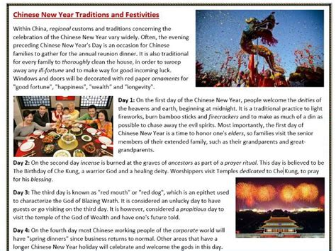 origin of new year traditions new year traditions reading comprehension by