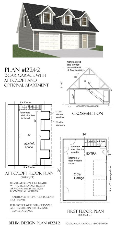 garage with loft floor plans 25 best ideas about garage plans with loft on pinterest