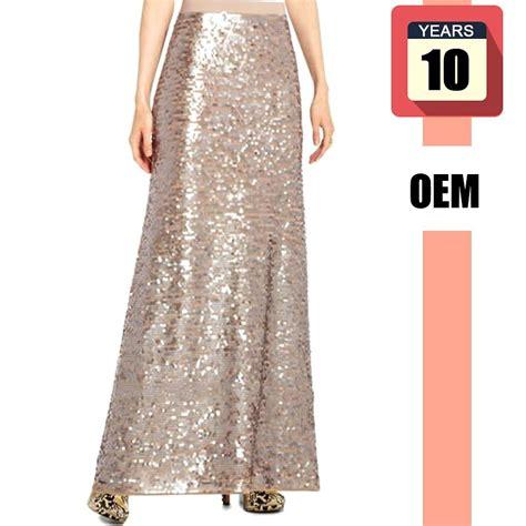 model fashion skirt sequined maxi skirt for