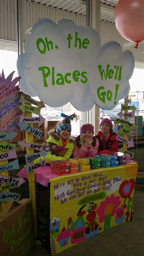 themes for girl scout c this dr seuss themed cookie booth took first place in the