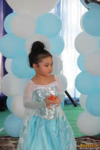 Jw Frozen Biru Muda Baby rayakan ultah ke 3 amora jadi putri ala frozen