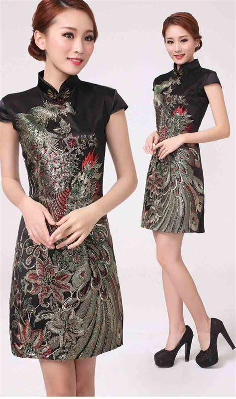 Dress Imlek Speak Murah dress cheongsam imlek 2015 warna hitam model terbaru jual murah import kerja