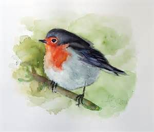 Red Kitchen Wall Decor - red robin painting birds watercolor by verbruggewatercolor on etsy