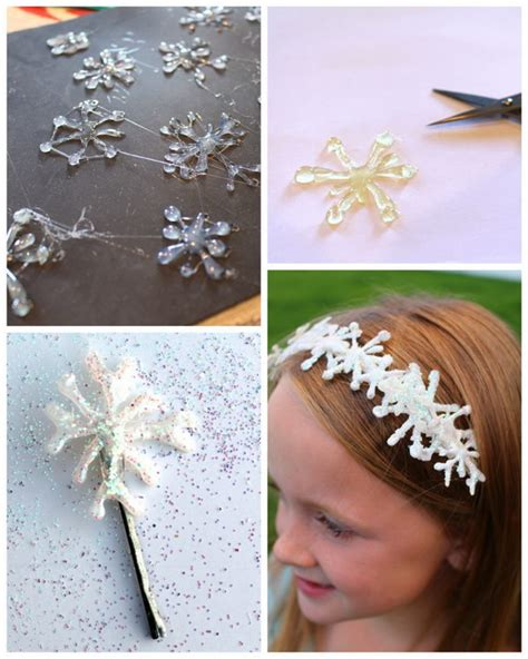 how to make a snowflake hair clip frozen party ideas