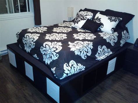 Ikea Expedit Bed Frame Ikea Hackers Expedit Storage Bed Want The Platform Storage Bed And The Bedding For The Home