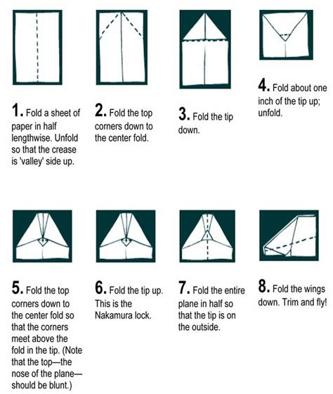 Paper Plane Folding Template - how to make paper airplanes that fly far craft