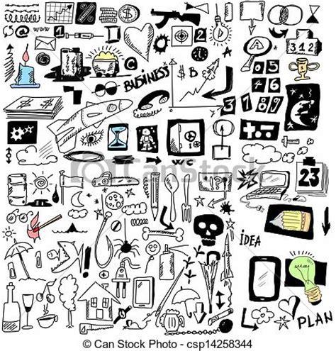 free doodle design elements drawing of doodle design elements illustration