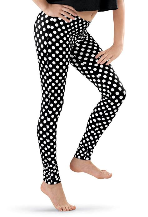 Polka Legging Printed Compression Tight polka dot print ankle length balera