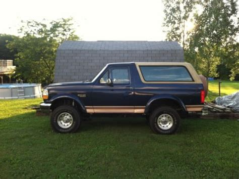 find used 1995 ford bronco eddie bauer edition in