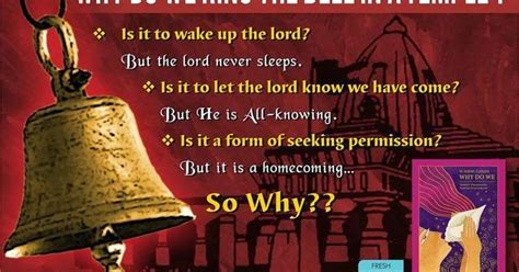 Legacy Of Wisdom Why Do We Ring The Bell In A Temple