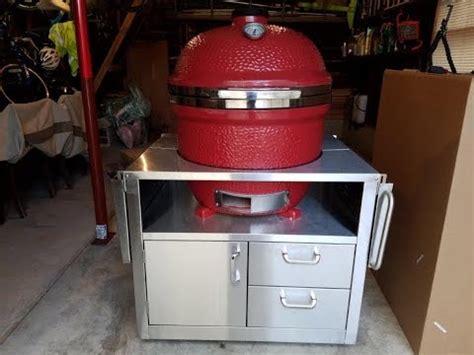kamado joe stainless steel table kamado joe big joe with large stainless steel cart