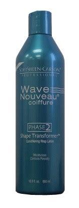 wave nouveau process wave nouveau coiffure phase 2 shape transformer