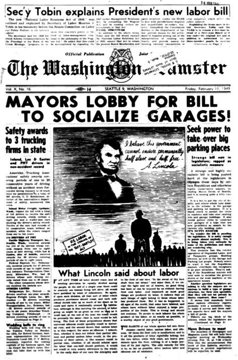 Washington Teamster (newspaper) Seattle: 1937-present