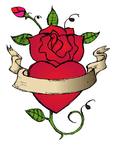 rose heart tattoos clipart best clipart best