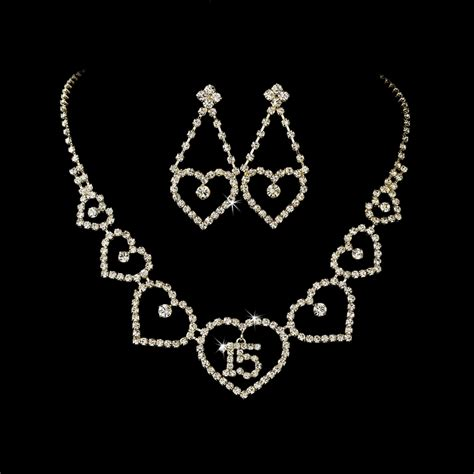 sweet 15 jewelry set quinceanera supplies gifts