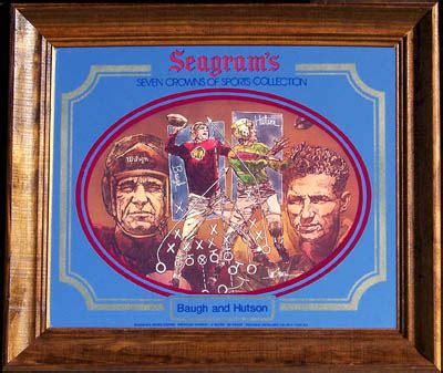 seagram's seven crowns of sports collection baugh & hutson