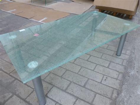 Salontafel Gebroken Glas by Glazen Salontafel Quot Gebroken Quot Glas Met Metalen Poten