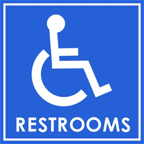 handicap bathroom sign handicap restroom parking sign signazon