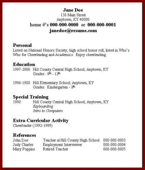 How O Make A Resume by How To Make A Resume For A Student Sle Top Resume