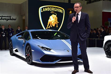 Ceo Of Lamborghini New Lamborghini Ceo Unveils Huracan Family Business