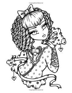 tattoo darlings an inky amazon com mermaids fairies other girls of whimsy coloring book 50 fan favs 9781518710681