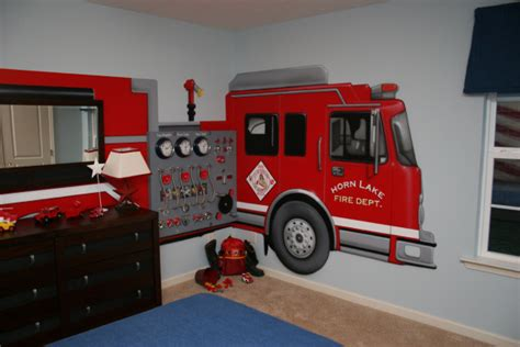 firetruck bedroom fire truck wall mural groovy kids gear