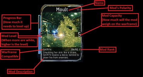 Warframe Mod Card Template by Steam Community Guide Basic Guide About Modding And