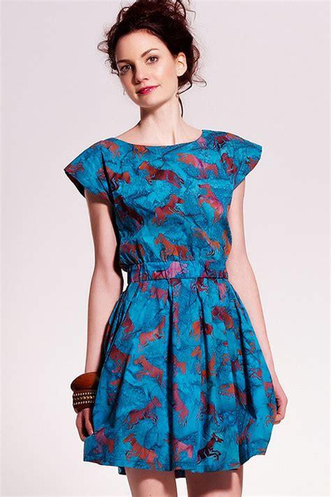 Rianty Olinda Batik Dress Brown sugarhill boutique print open back dress in aqua