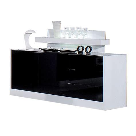 Ordinaire Meuble Bas Laque Blanc Ikea #3: mobilier-maison-buffet-bas-noir-et-blanc-laque.jpg