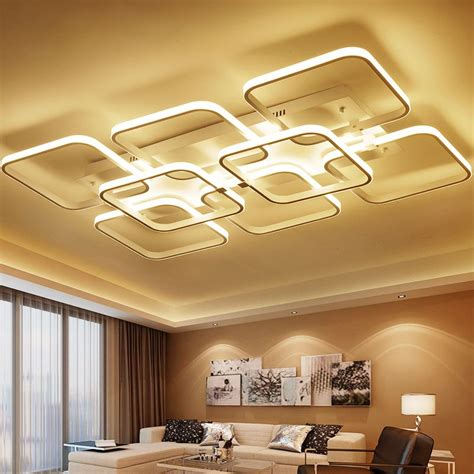 square surface mounted modern led ceiling lights
