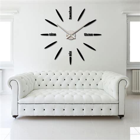 design home decor wall clock diy large watch wall clock decor modern design creative