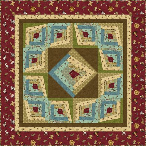 Log Cabin Quilt Kits by Why Pieced Wonky Log Cabin Quilt Kit
