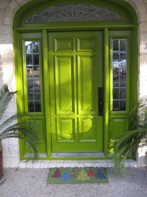 Front Exterior Doors For Homes Diy Fall Spruce Up Of Your Front Door With Color Diy