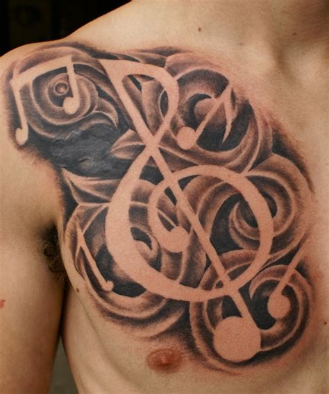 heart with music notes tattoo designs brainsy design
