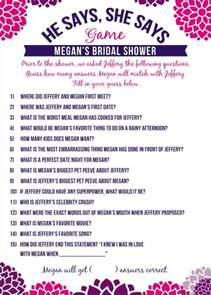 best bridal shower questions 99 wedding ideas